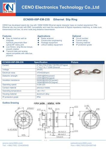 CENO Ethernet slip ring ECN000-09P-EM-23S