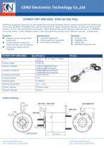 CENO Ethernet Slip Ring ECN025-10P1-08S-02EG - 1