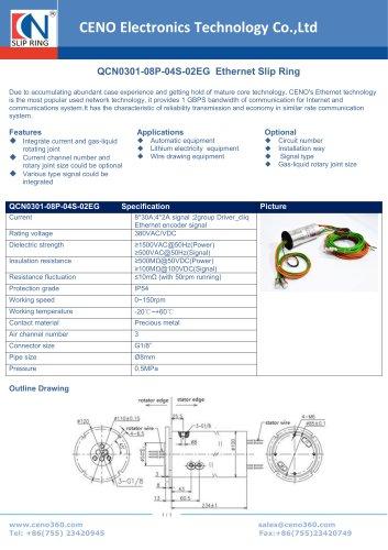 CENO Ethernet Slip Ring QCN0301-08P-04S-02EG