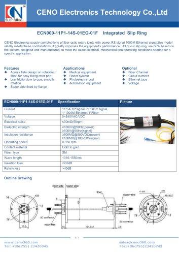 CENO Ethernet slip ring for server system ECN000-11P1-14S-01EG-01F
