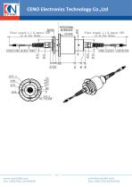 CENO Fiber optic rotary joint with 16 channel  FCN0231G-67A-16 - 2