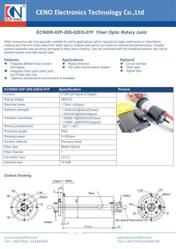 CENO Fiber Optic Rotary Joint ECN000-02P-20S-02EG-01F