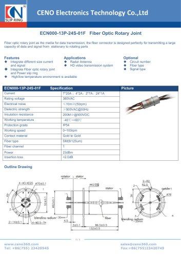 CENO Fiber Optic Rotary Joint ECN000-13P-24S-01F