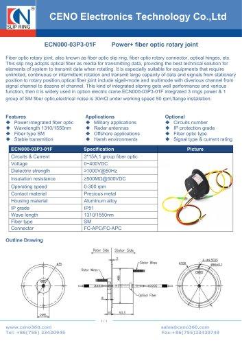 CENO Fiber optic rotary joint integrate electric swivel ECN000-03P3-01F