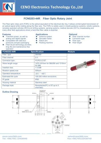 CENO Fiber optical rotary joint FCN0203-44R