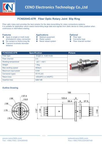 CENO Fiber optical rotary joint FCN0204G-67R