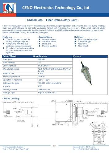 CENO Fiber optical rotary joint FCN0207-44L