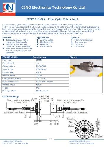 CENO Fiber optical rotary joint FCN0231G-67A