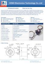 CENO Gigabit Ethernet slip ring ECN038-03P2-02EG - 1