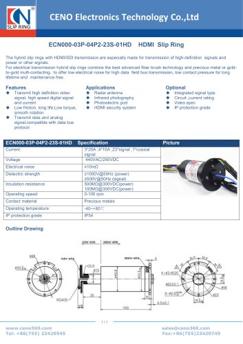 CENO HD Slip Ring ECN000-03P-04P2-23S-01HD