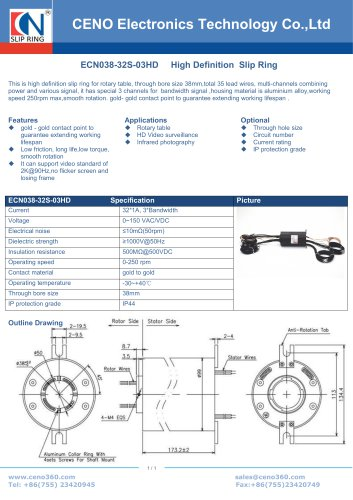 CENO High definition slip ring ECN038-32S-03HD