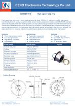 CENO  High speed rotary joint 1500RPM ECN025-06S - 1