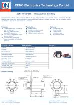 CENO Hollow shaft slip ring with 100mm hole ECN100-12P-08S - 1