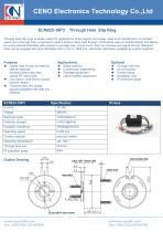 CENO Hollow shaft slip ring with 18 channel ECN025-18P3 - 1
