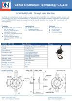 CENO Hybrid hollow shaft slip ring ECN038-03P1-09S - 1