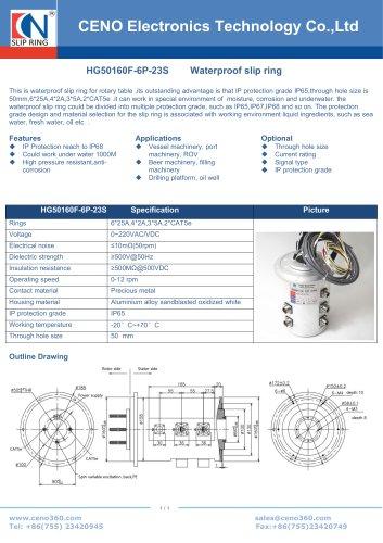 CENO Hybrid rotary joint HG50160F-6P-23S