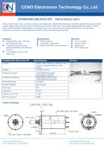 CENO Hybrid slip ring with fiber optic channel ECN000-06P-26S-01EG-01F - 1