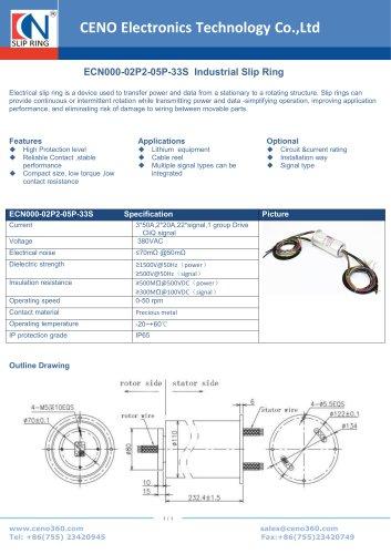 CENO Industrial Slip Ring ECN000-02P2-05P-33S