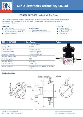 CENO Industrial Slip Ring ECN000-03P2-06S
