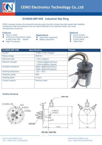 CENO Industrial Slip Ring ECN000-08P-05S