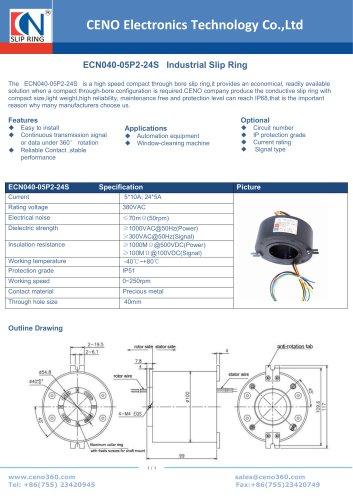 CENO  Industrial Slip Ring ECN040-05P2-24S
