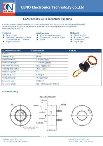 CENO Industrial Slip Ring ECNS000-086-03P3