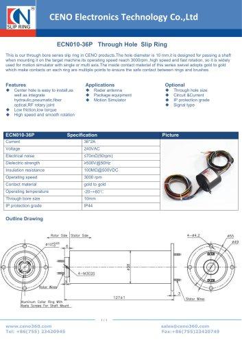 CENO Motion simulator slip ring ECN010-36P