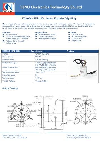 CENO Motor Encoder Slip Ring ECN000-12P2-18S