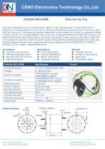 CENO multi-channel Ethernet slip rings ECN038-04P2-03EM - 1