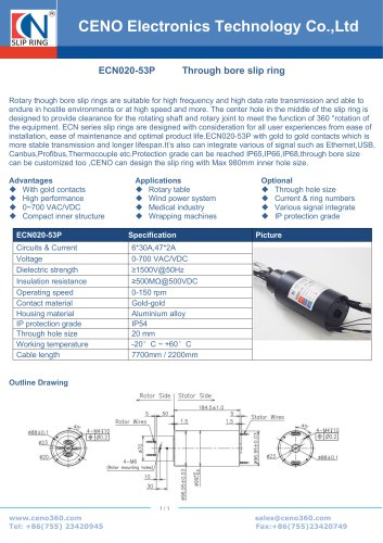 CENO Multi channel rotary joint ECN020-53P