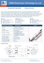 CENO Multi channel slip ring Gigabit RS485 ECN025-28P1-08S-03EM - 1