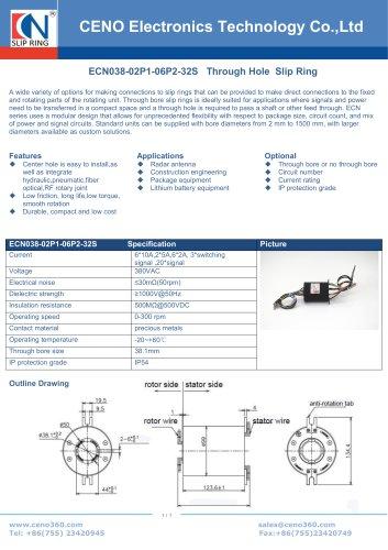 CENO Multi circuit slip ring ECN038-02P1-06P2-32S