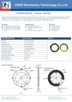 CENO Pancake slip ring with 6mm thickness PSCN064-02P-02S - 1