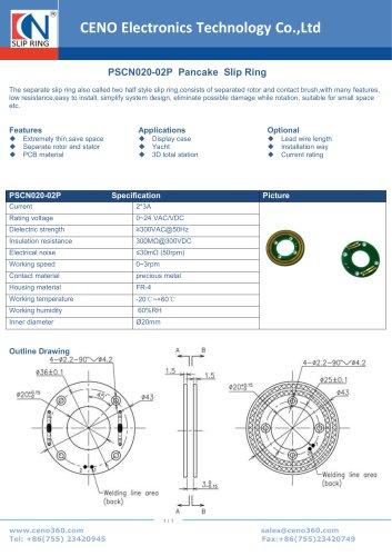 CENO Pancake slip ring for display cabinet PSCN020-02P