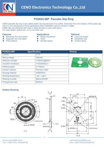 CENO Pancake Slip Ring PCN022-06P