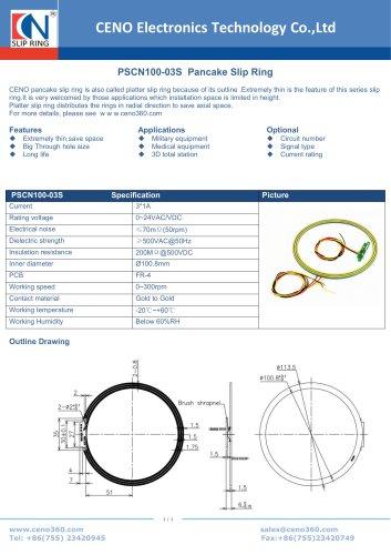 CENO Pancake slip ring PSCN100-03S