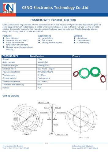 CENO PCB Pancake slip ring PSCN046-02P1