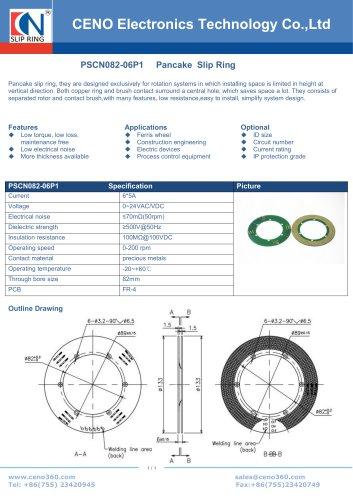 CENO PCB slip ring for Excavator PSCN082-06P1