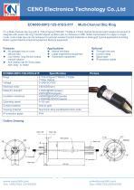 CENO Power slip ring with fiber optic channel ECN000-09P2-12S-01EG-01F - 1