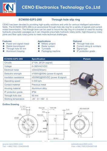 CENO Power slip ring integrate singal channel ECN050-02P2-28S
