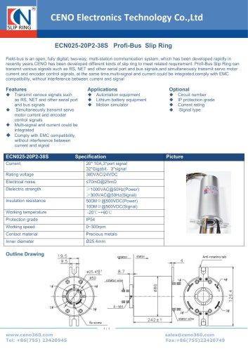CENO Profi-Bus Slip Ring ECN025-20P2-38S