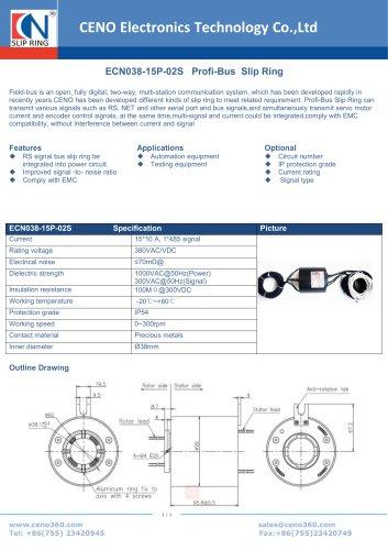 CENO Profi-Bus Slip Ring ECN038-15P-02S