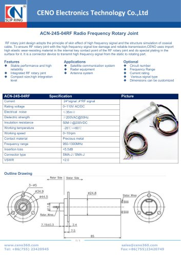 CENO Radio Frequency Rotary Joint ACN-24S-04RF