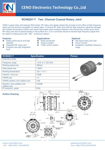 CENO RF Rotary joint with through hole RCN0201-T