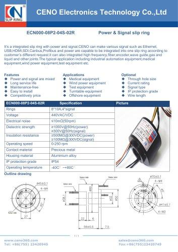 CENO RF signal slip ring ECN000-08P2-04S-02R