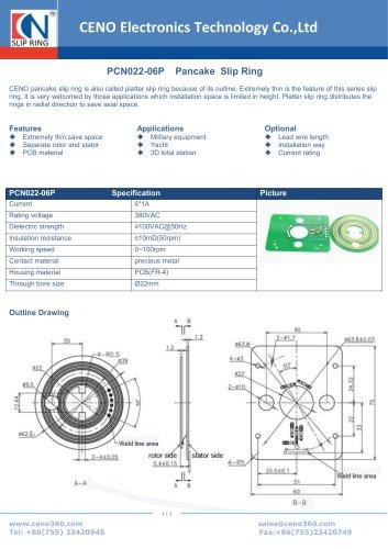 CENO Separate pancake slip ring PCN022-06P