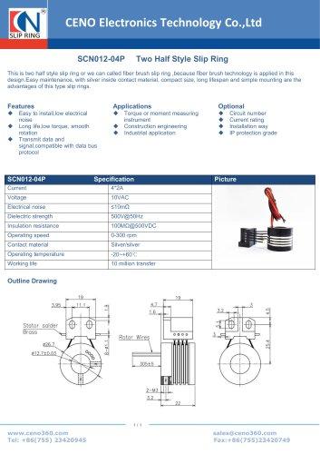 CENO Separate slip ring SCN012-04P
