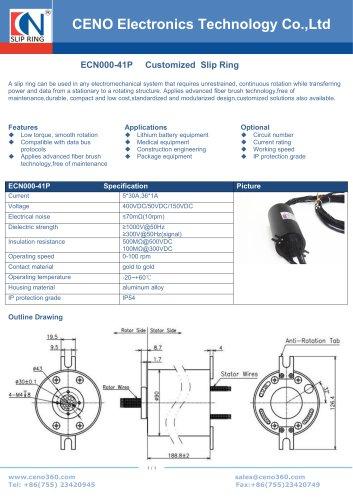 CENO Slip ring for index table ECN000-41P