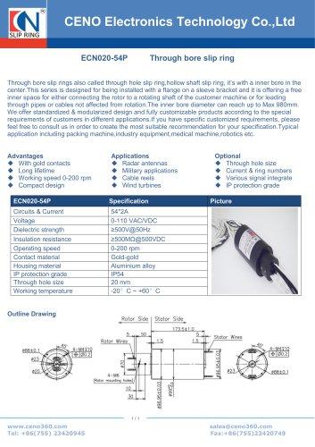 CENO Slip rings for radar rotary plate ECN020-54P