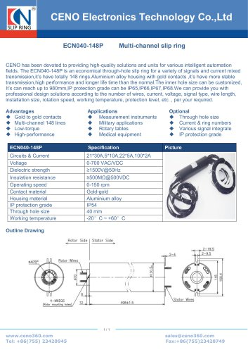CENO Swivel with more than 100 channel ECN040-148P